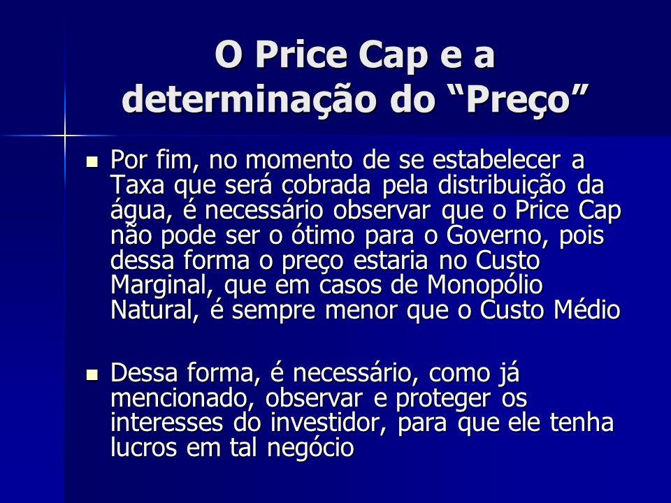 O Price Cap e a determinação do Preço