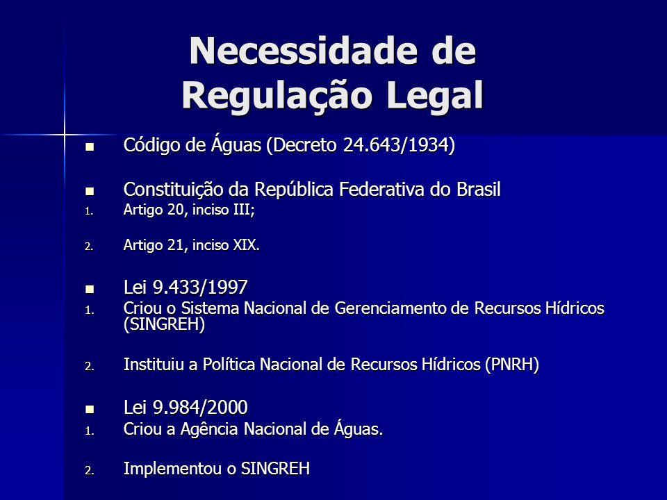 Necessidade de Regulação Legal