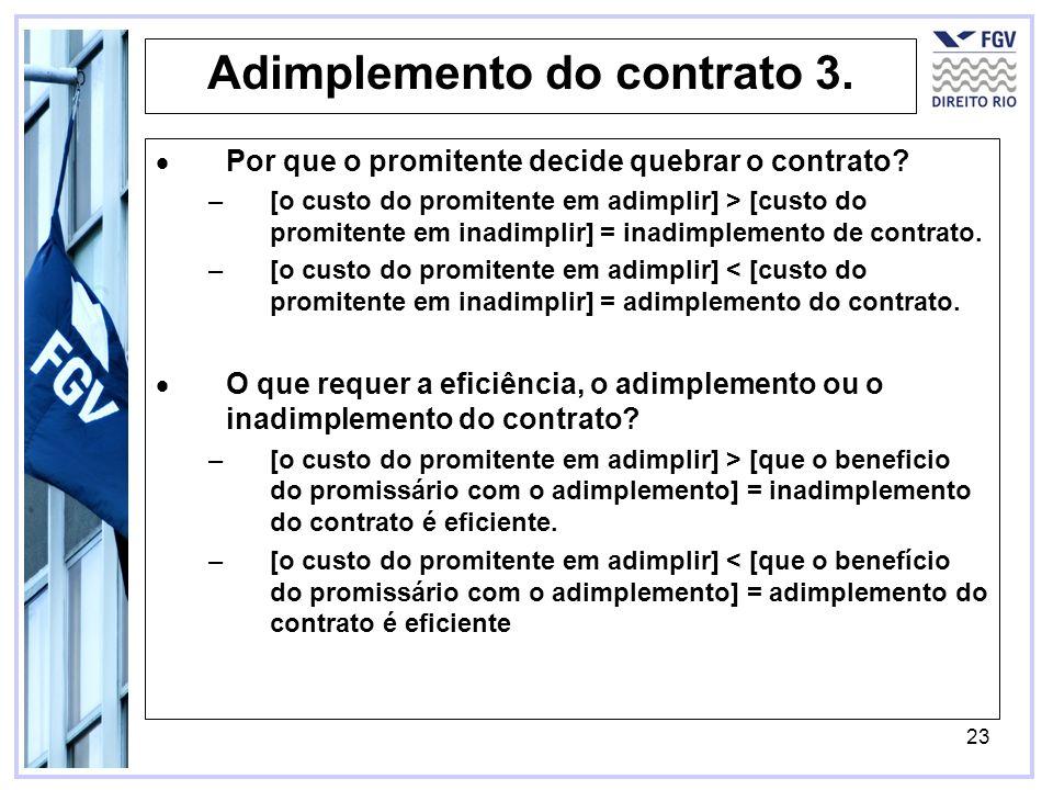 Adimplemento do contrato 3.