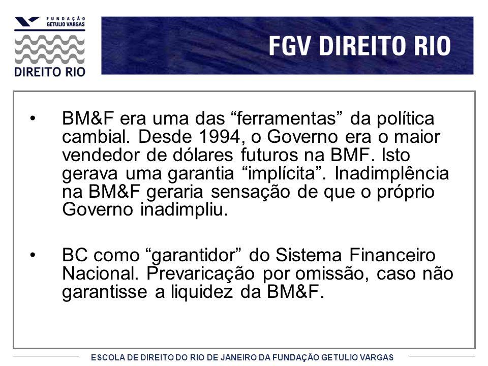 BM&F era uma das ferramentas da política cambial