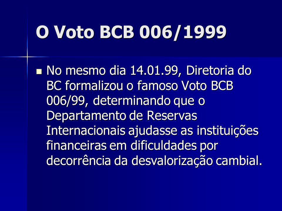 O Voto BCB 006/1999