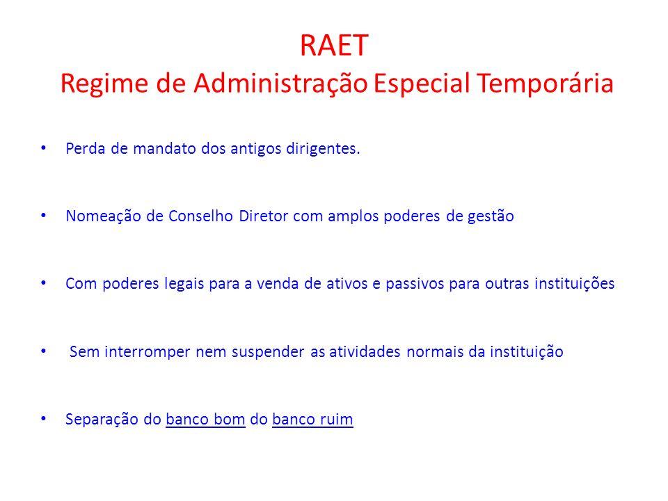 RAET Regime de Administração Especial Temporária
