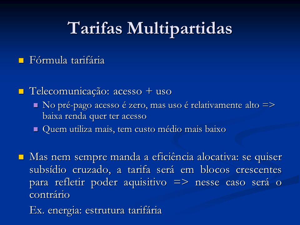 Tarifas Multipartidas