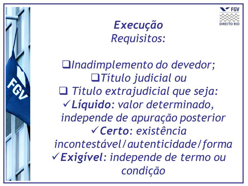Inadimplemento do devedor; Título judicial ou
