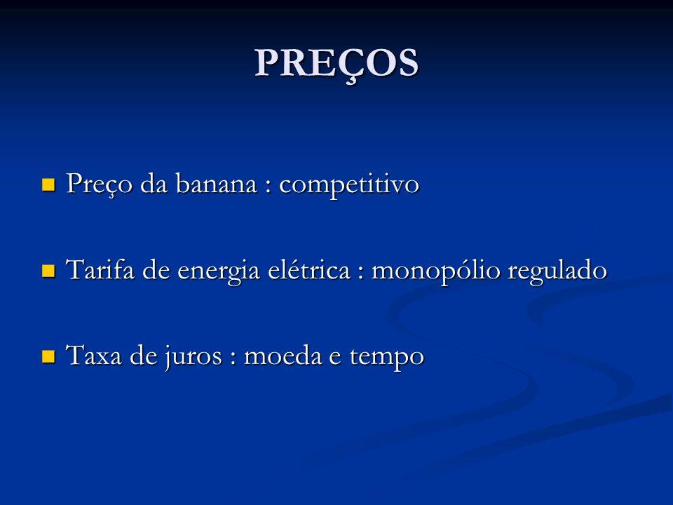 PREÇOS Preço da banana : competitivo