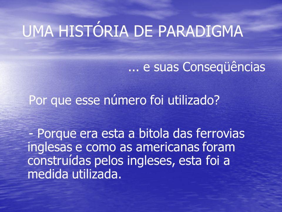 UMA HISTÓRIA DE PARADIGMA