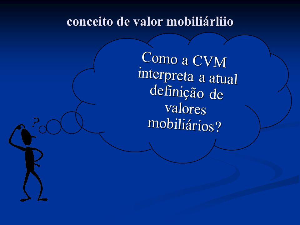 conceito de valor mobiliárliio
