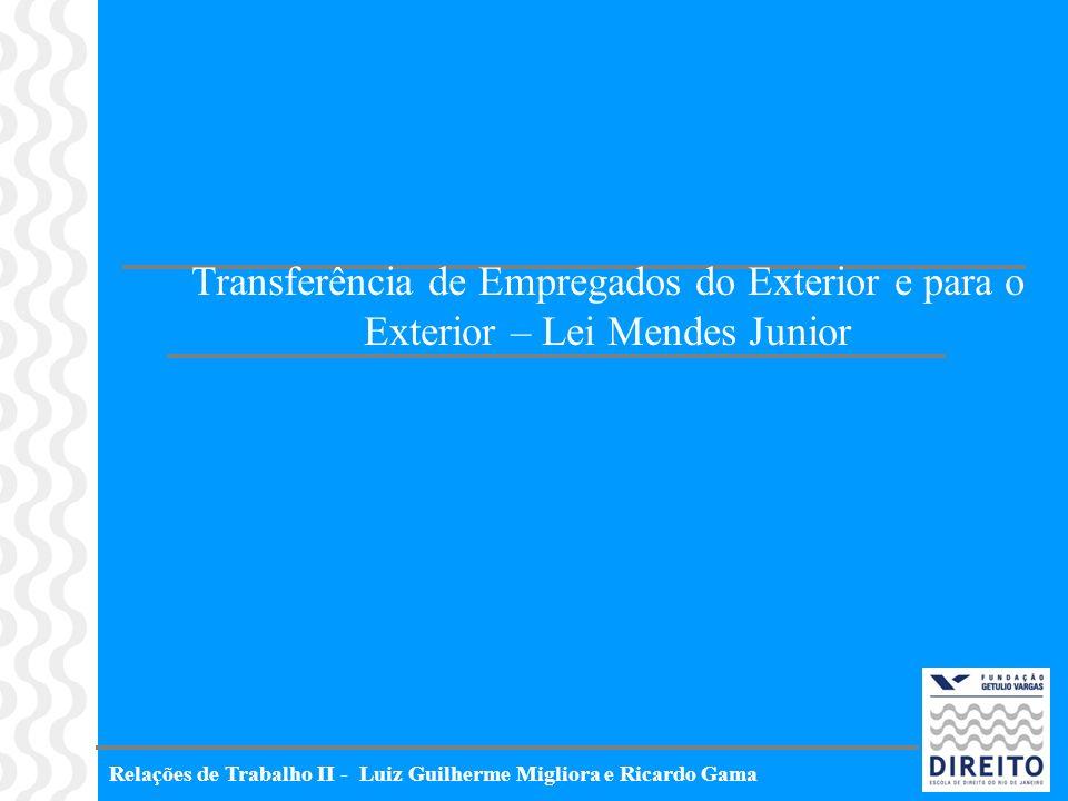 Transferência de Empregados do Exterior e para o Exterior – Lei Mendes Junior
