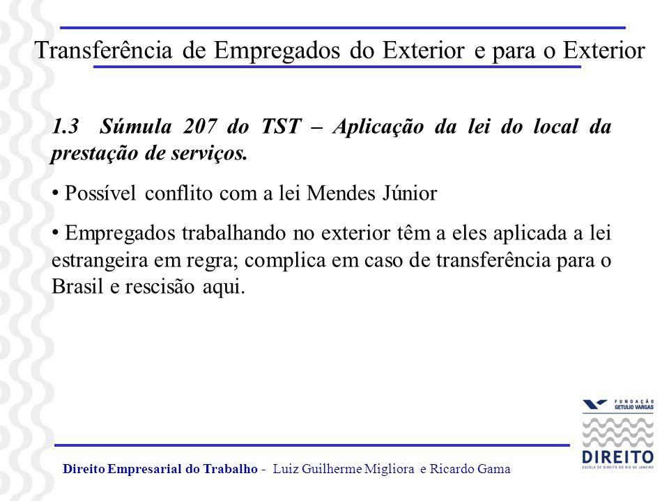 Transferência de Empregados do Exterior e para o Exterior