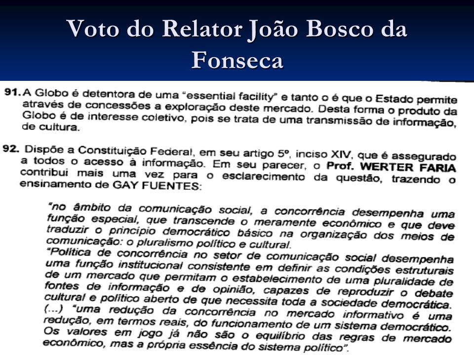 Voto do Relator João Bosco da Fonseca