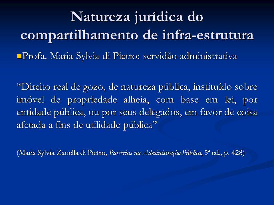 Natureza jurídica do compartilhamento de infra-estrutura
