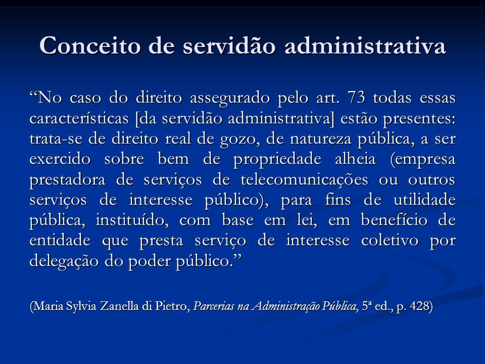Conceito de servidão administrativa