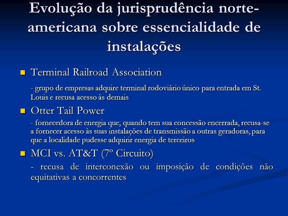 Evolução da jurisprudência norte-americana sobre essencialidade de instalações