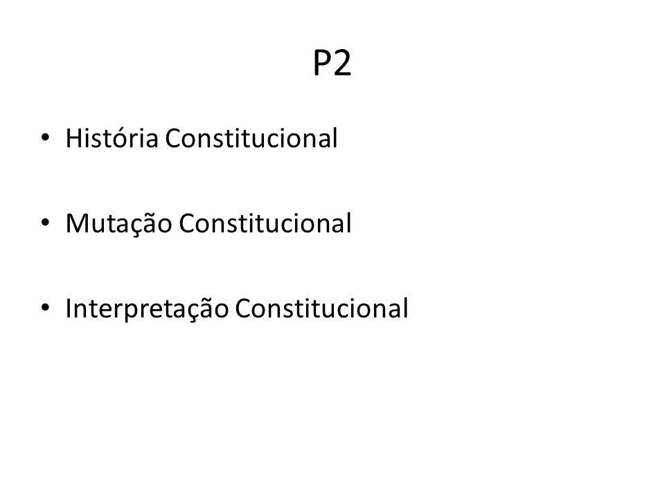 P2 História Constitucional Mutação Constitucional
