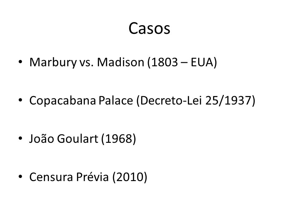Casos Marbury vs. Madison (1803 – EUA)