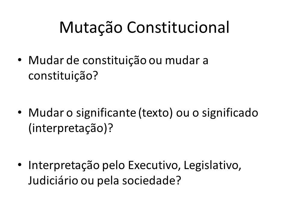 Mutação Constitucional