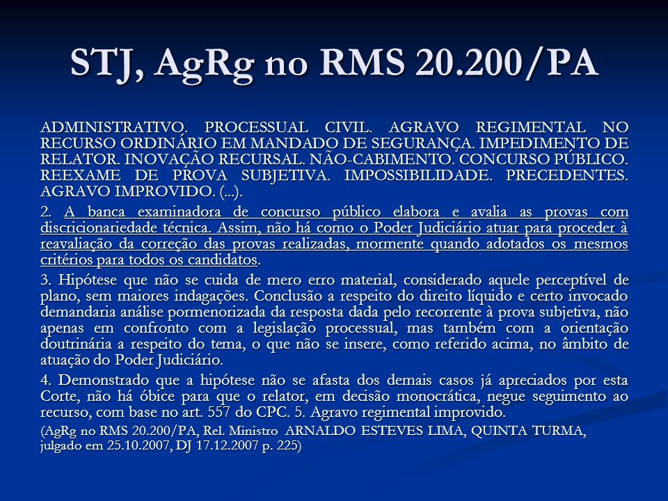 STJ, AgRg no RMS 20.200/PA