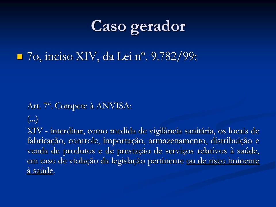 Caso gerador 7o, inciso XIV, da Lei nº. 9.782/99: