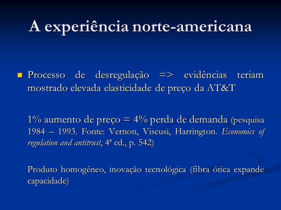 A experiência norte-americana