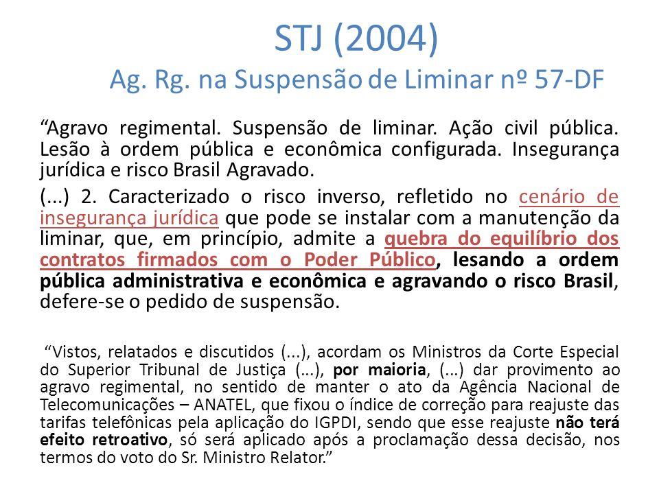 STJ (2004) Ag. Rg. na Suspensão de Liminar nº 57-DF
