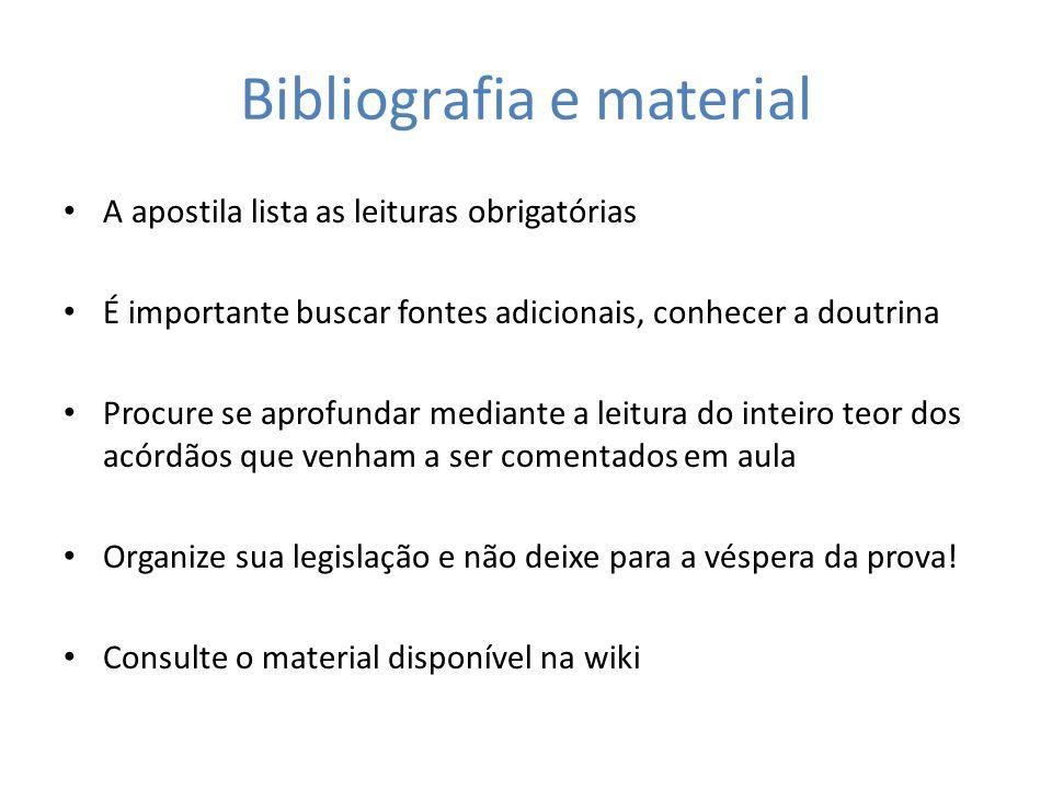 Bibliografia e material