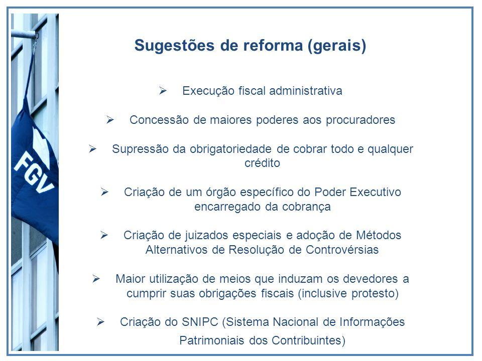 Sugestões de reforma (gerais)