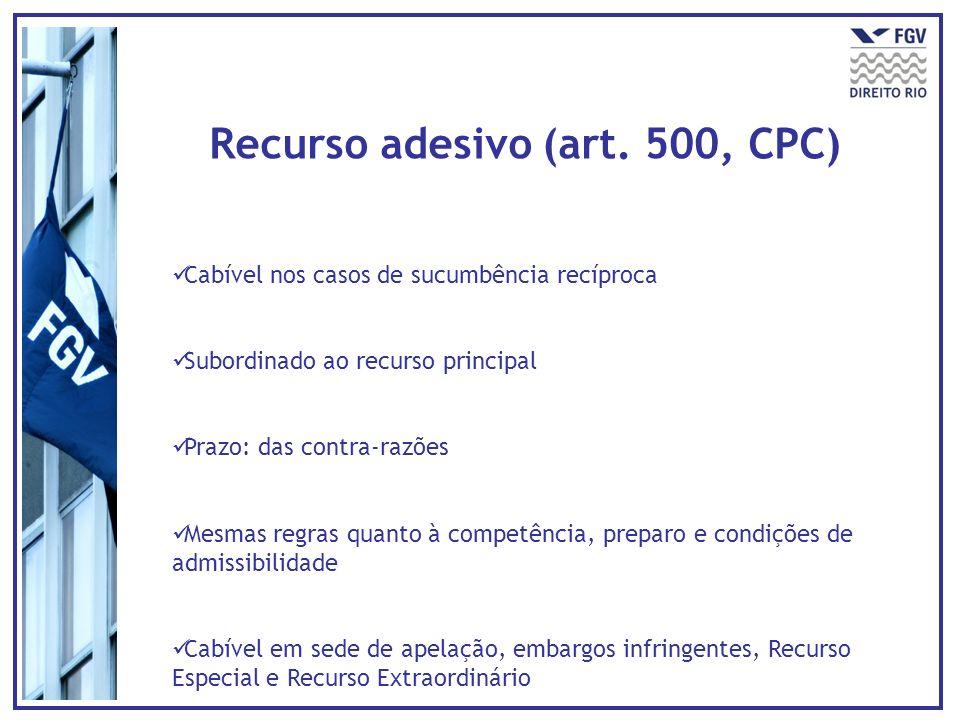 Recurso adesivo (art. 500, CPC)