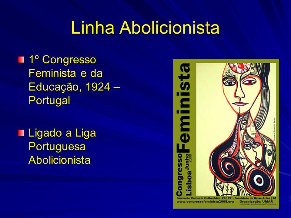 Linha Abolicionista 1º Congresso Feminista e da Educação, 1924 –Portugal.