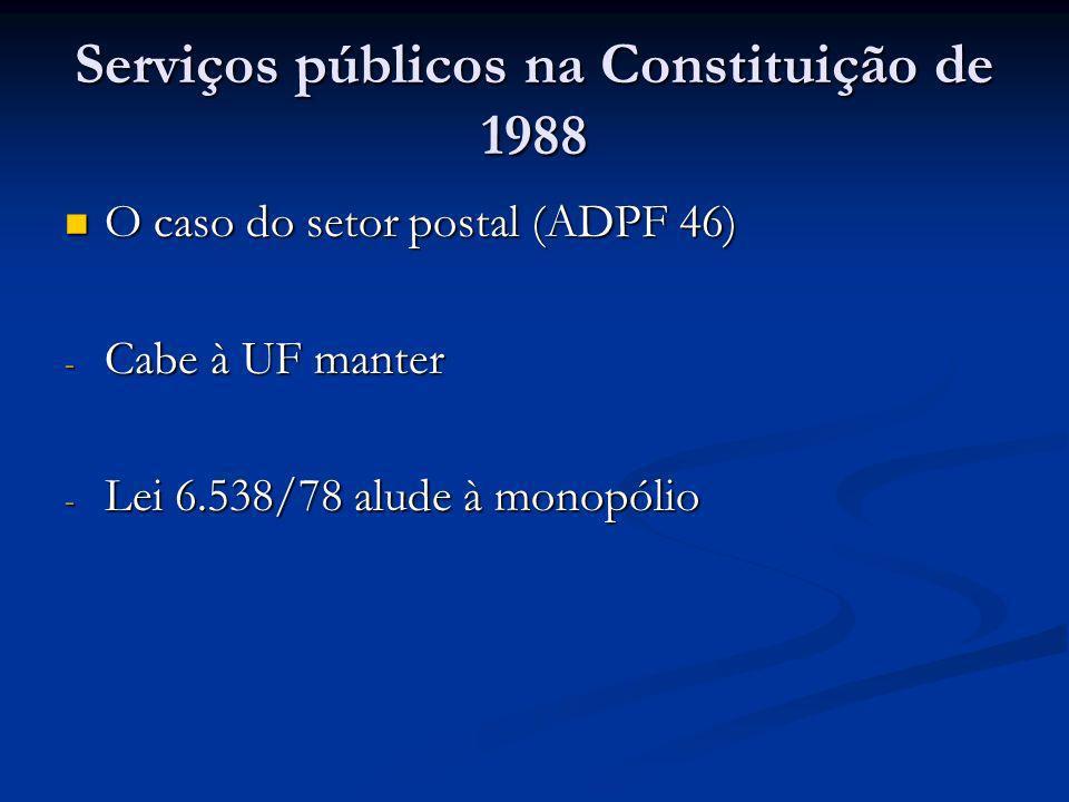 Serviços públicos na Constituição de 1988