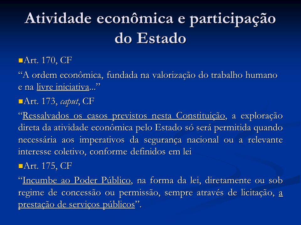 Atividade econômica e participação do Estado
