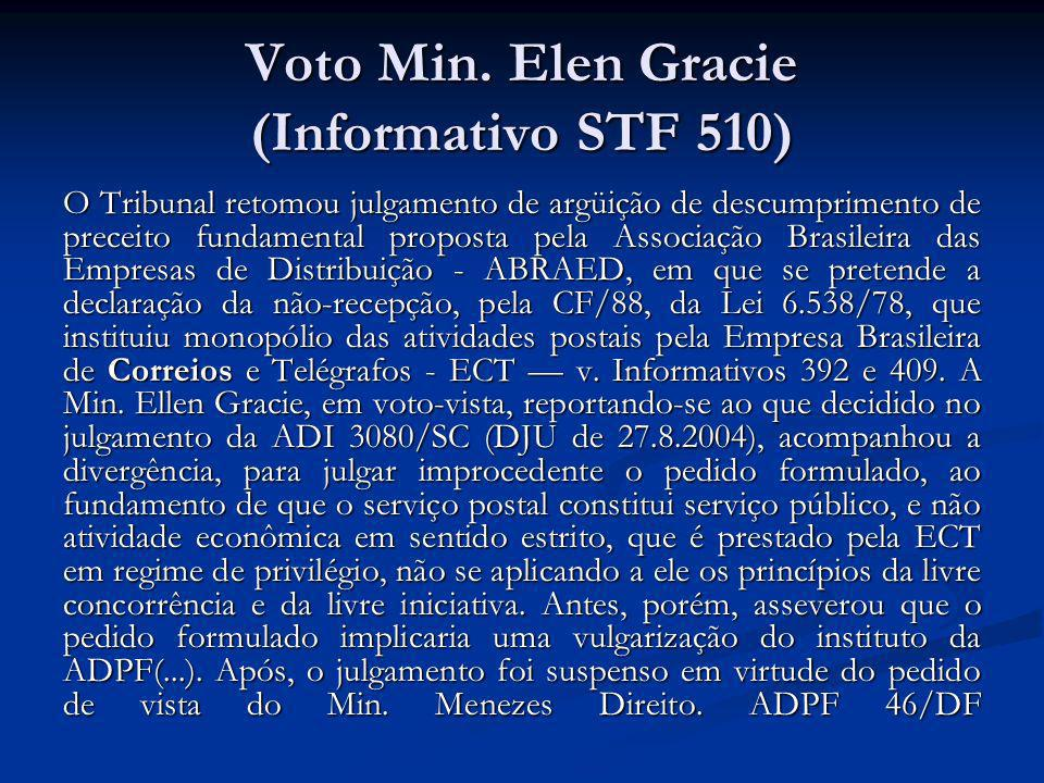 Voto Min. Elen Gracie (Informativo STF 510)