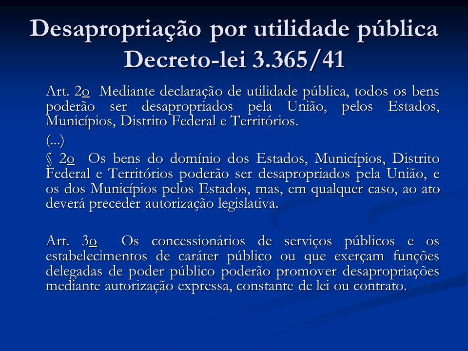 Desapropriação por utilidade pública Decreto-lei 3.365/41