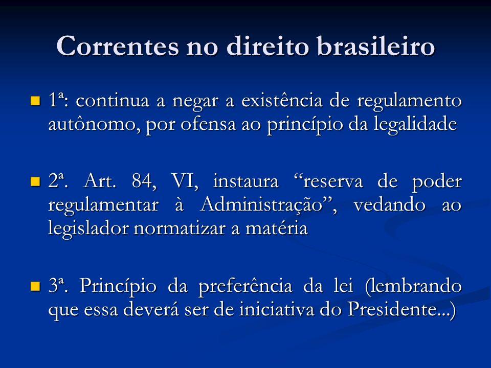 Correntes no direito brasileiro