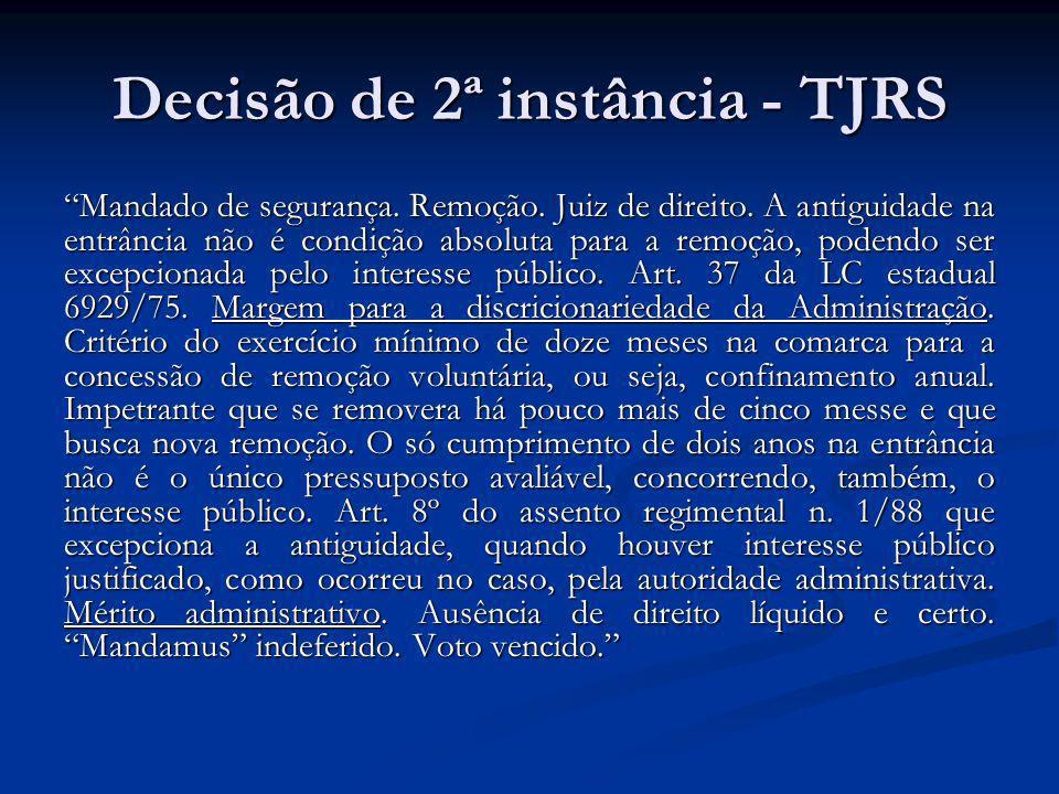 Decisão de 2ª instância - TJRS
