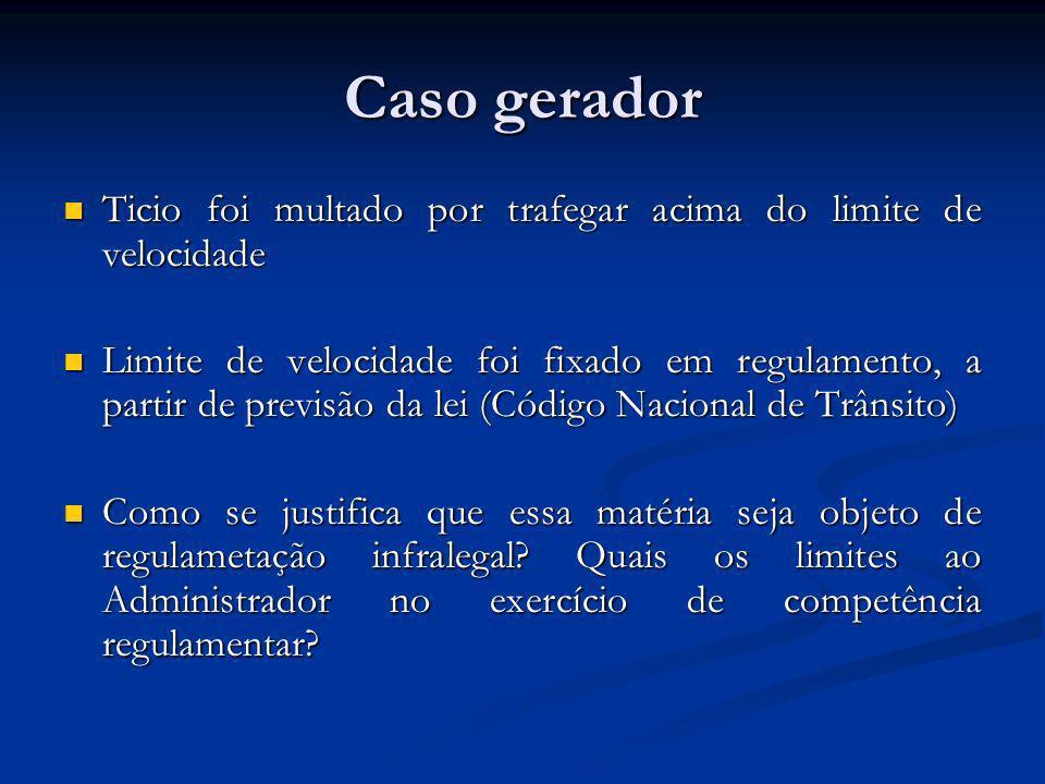 Caso geradorTicio foi multado por trafegar acima do limite de velocidade.
