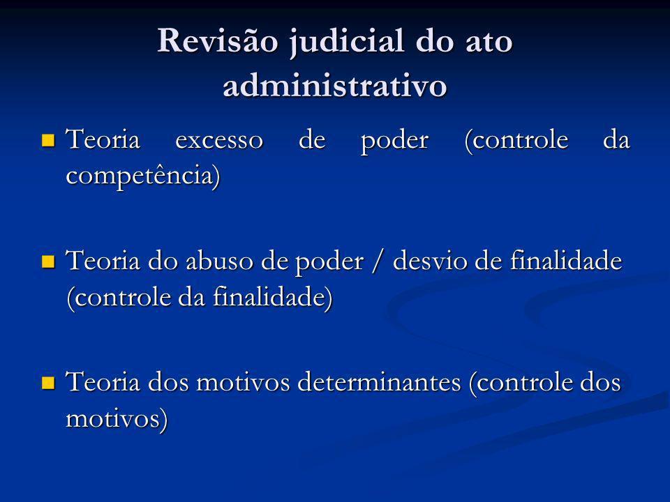 Revisão judicial do ato administrativo