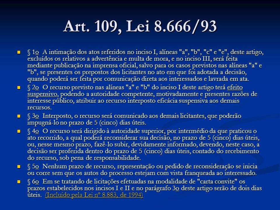 Art. 109, Lei 8.666/93
