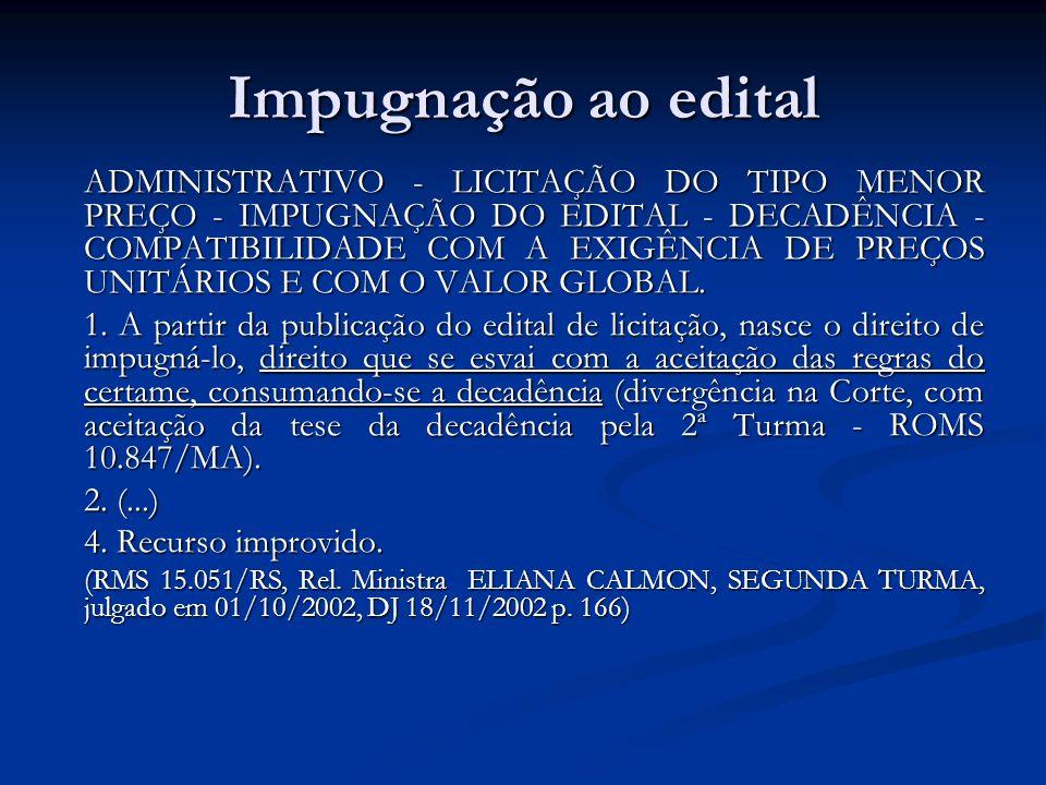 Impugnação ao edital