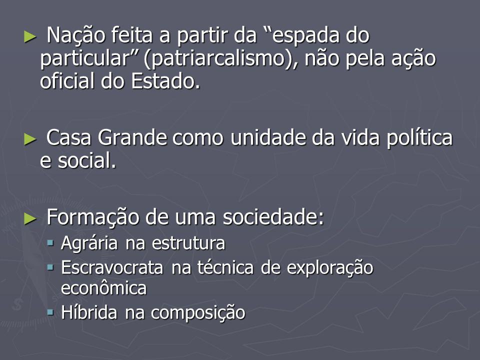 Casa Grande como unidade da vida política e social.