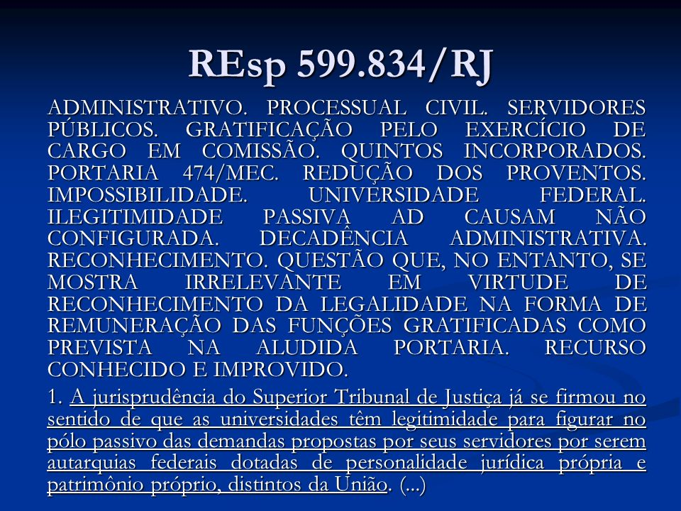 REsp 599.834/RJ