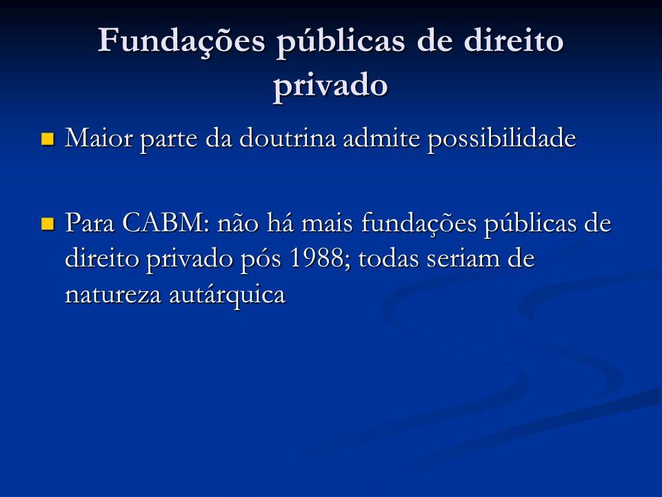 Fundações públicas de direito privado