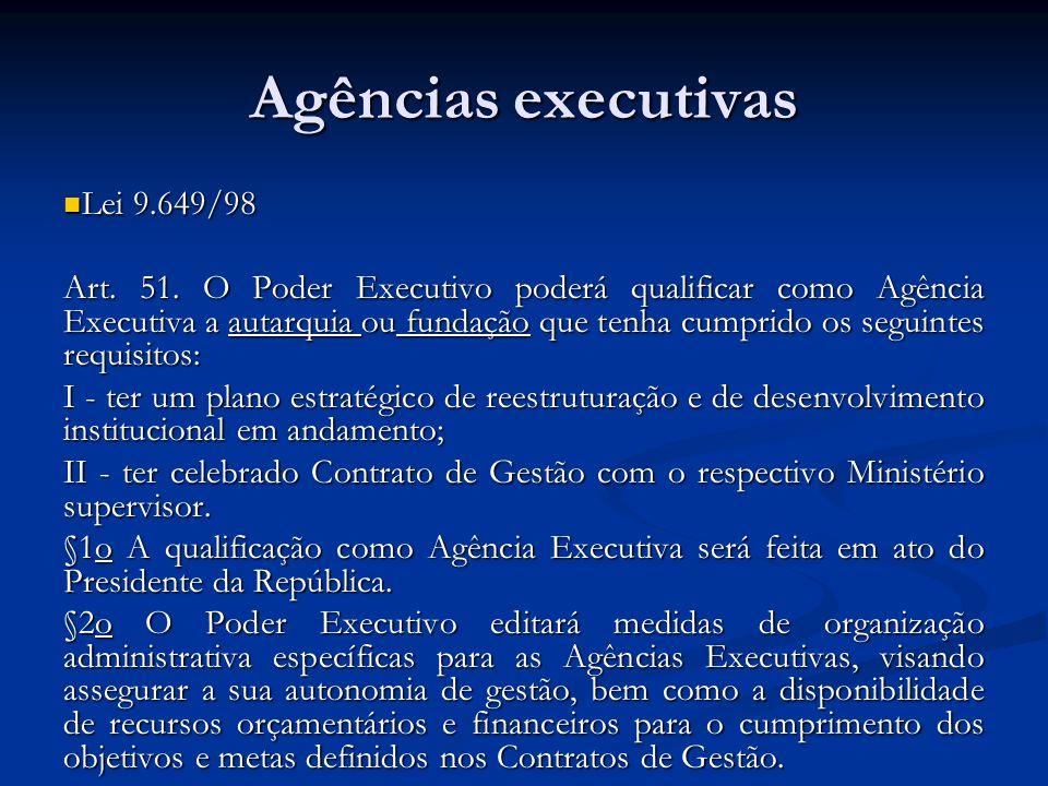Agências executivas Lei 9.649/98