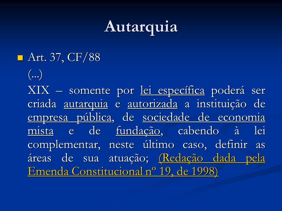 AutarquiaArt. 37, CF/88. (...)