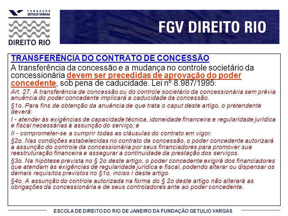 TRANSFERÊNCIA DO CONTRATO DE CONCESSÃO