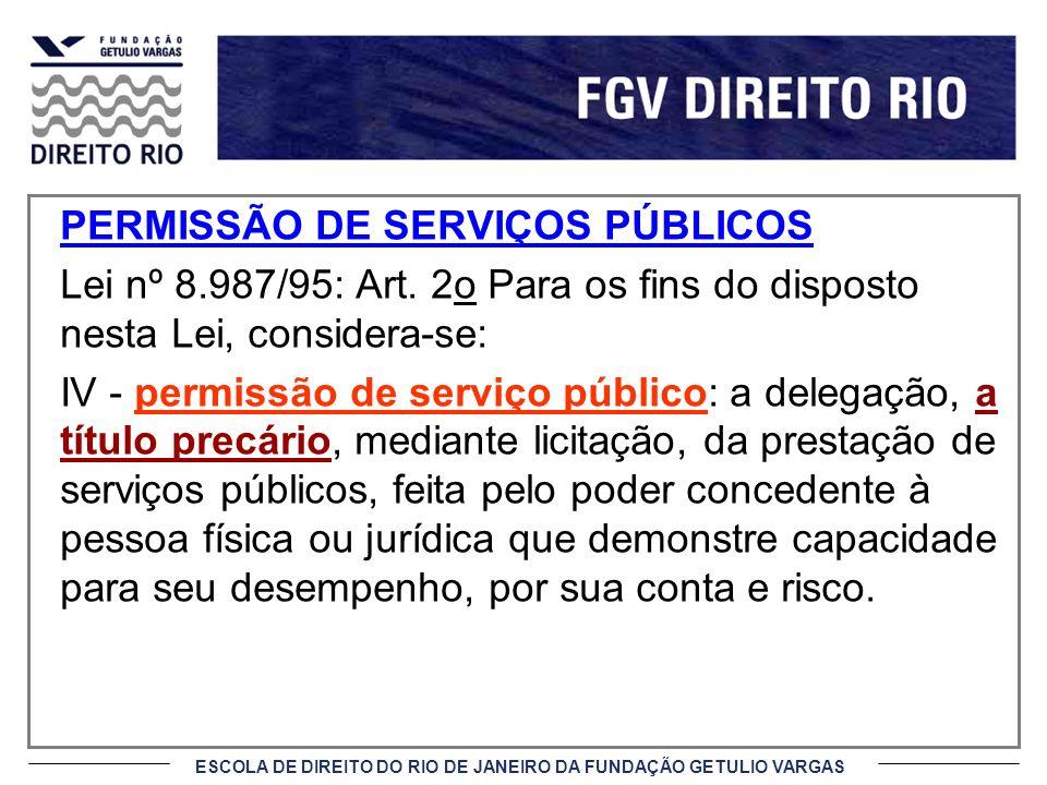 PERMISSÃO DE SERVIÇOS PÚBLICOS