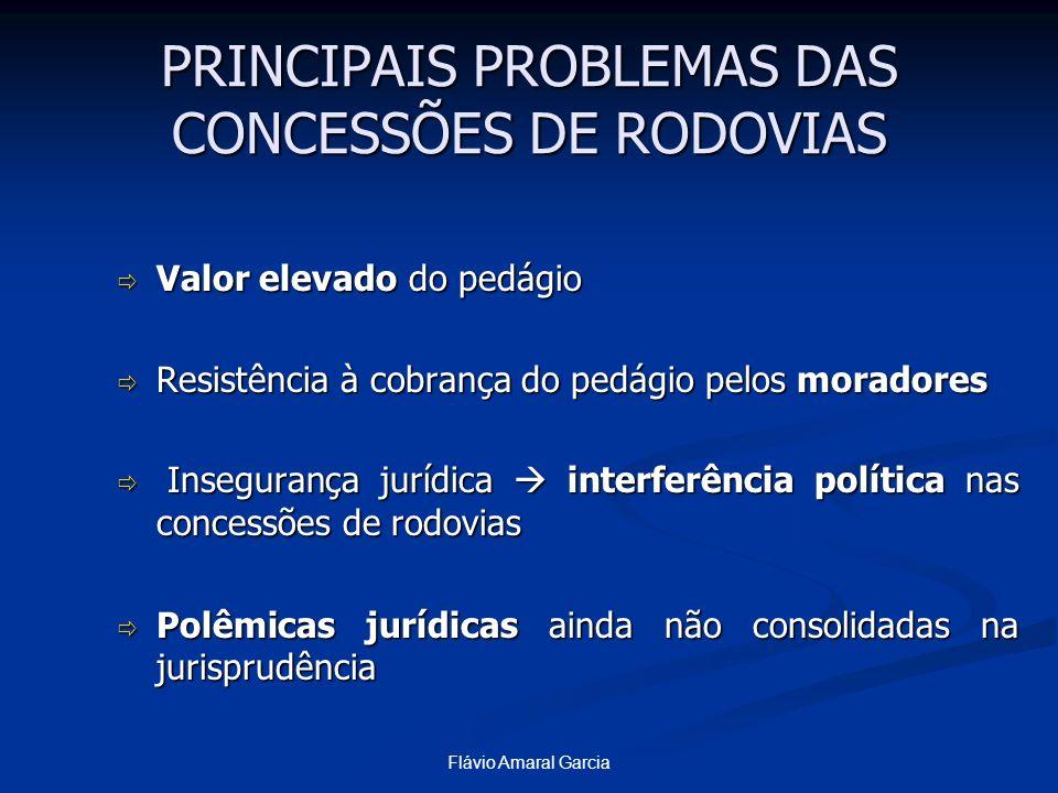 PRINCIPAIS PROBLEMAS DAS CONCESSÕES DE RODOVIAS