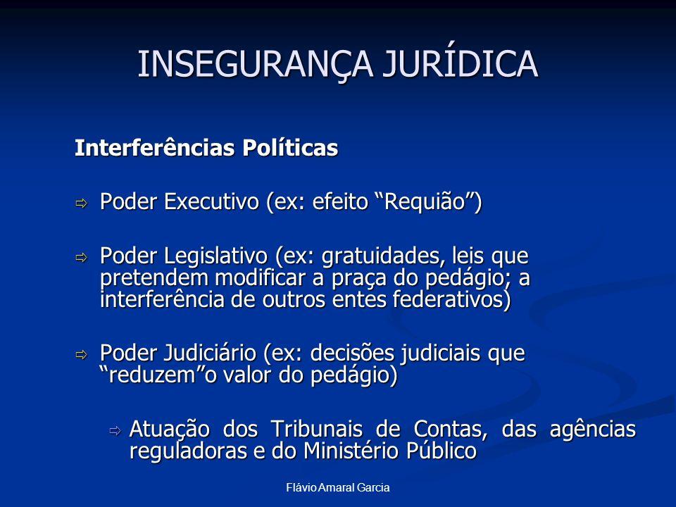 INSEGURANÇA JURÍDICA Interferências Políticas
