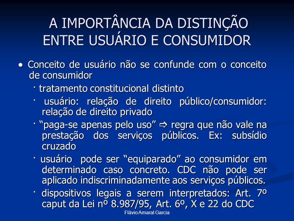 A IMPORTÂNCIA DA DISTINÇÃO ENTRE USUÁRIO E CONSUMIDOR