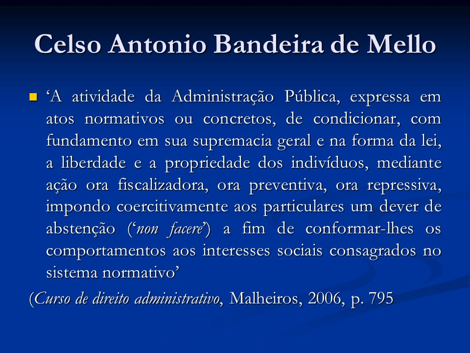 Celso Antonio Bandeira de Mello