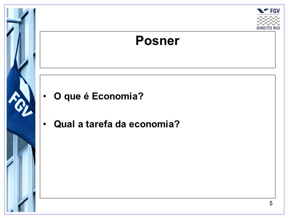Posner O que é Economia Qual a tarefa da economia
